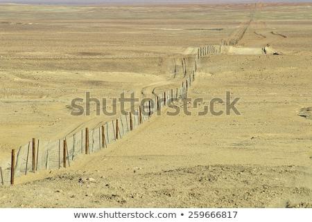 Australian outback Dingo fence Stock photo © sumners