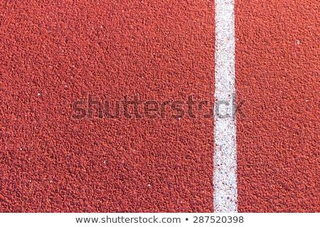 rojo · ejecutando · tema · preparado · competencia - foto stock © inxti