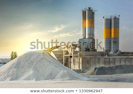 Concretas fábrica detalle arena grava trabajo Foto stock © stevanovicigor