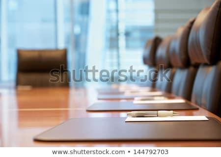 Lege stoelen conferentiezaal conferentie publiek Stockfoto © tarczas