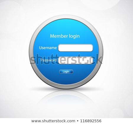Metallico accesso login schermo blu nastro Foto d'archivio © vipervxw