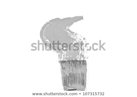 Grey brush stroke forming a zigzag against a white background Stock photo © wavebreak_media