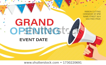 Celebrating Announcement sign Stock photo © Lightsource
