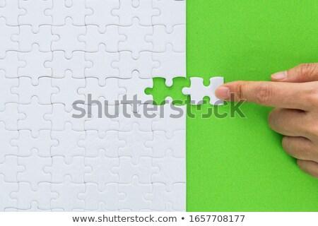 green puzzle  Stock photo © Grazvydas