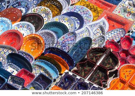 Cor mão viajar África dom Árabe Foto stock © jonnysek