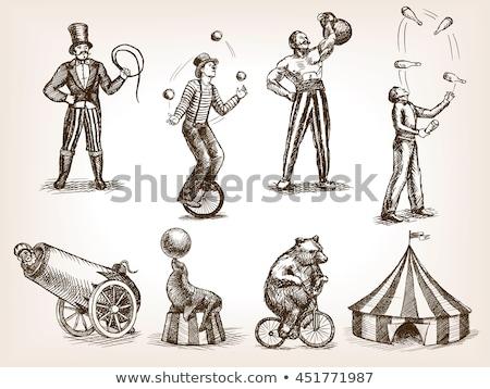 cirkusz · szórakoztatás · sátor · piros · fehér · csíkok - stock fotó © tintin75
