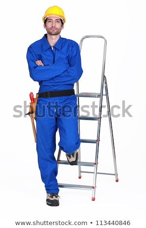 Portrait of a standoffish tradesman Stock photo © photography33
