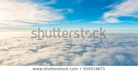 airplane above clouds stock photo © rufous
