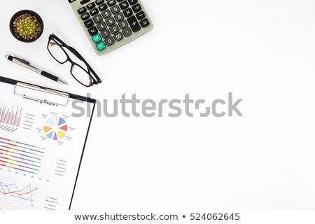 Analiza biały czerwony słowo działalności blog Zdjęcia stock © tashatuvango