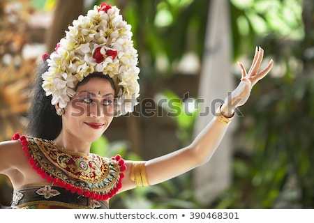 Barong costume - traditional Balinese theater Stock photo © pzaxe