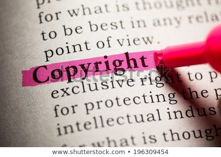 Copyright definition in a dictionary stock photo © sqback
