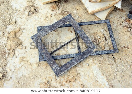 Mallet and chisel on a sandstone slab Stock photo © Zerbor