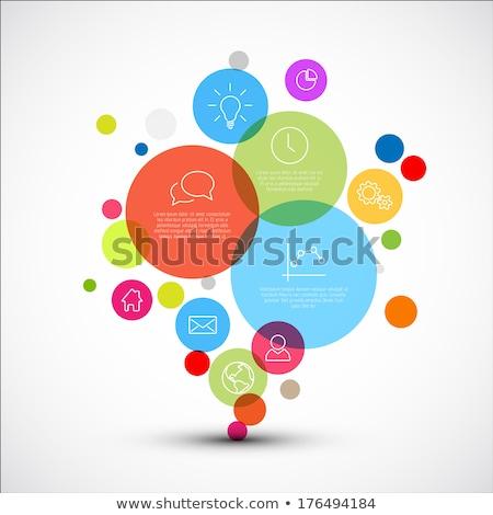 Wektora schemat szablon różny opisowy pęcherzyki Zdjęcia stock © orson