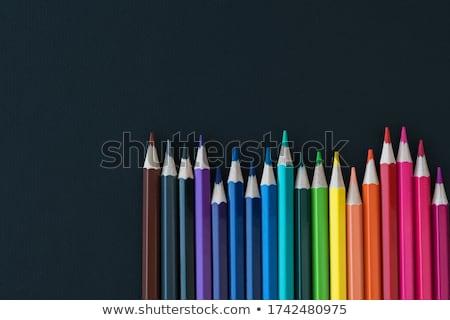 Photo stock: Crayons · différent · couleurs · blanche · Retour