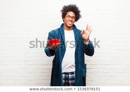 афроамериканец белье студию лице человека Сток-фото © lunamarina