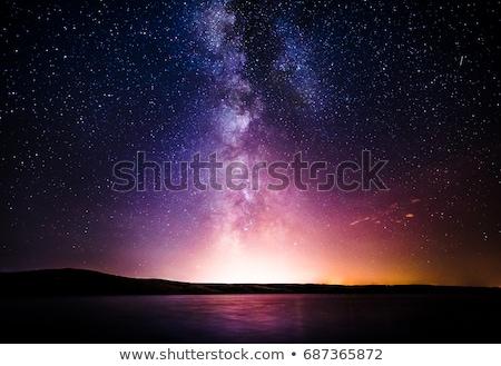 Yol gökyüzü satranç tahtası karanlık mavi gökyüzü doğa Stok fotoğraf © grechka333