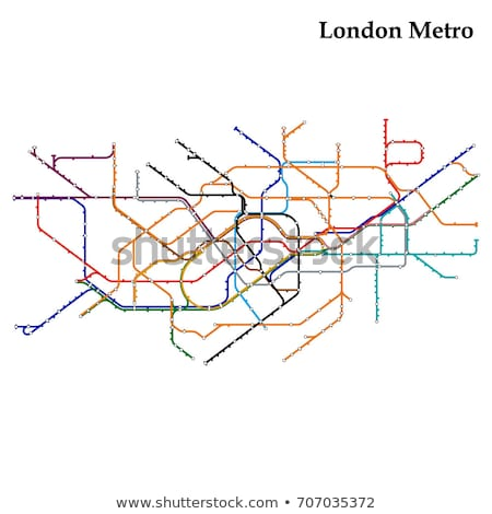 Cső térkép London földalatti metró metró Stock fotó © claudiodivizia