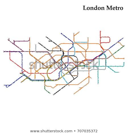 Tubo mapa Londres subterráneo metro metro Foto stock © claudiodivizia