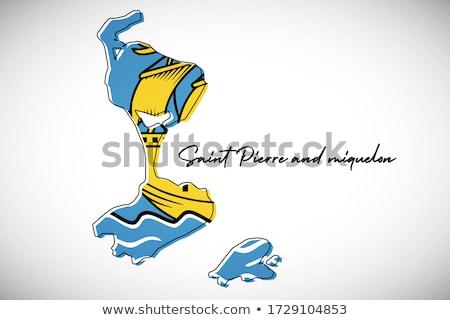 флаг · святой · иллюстрация · карта · Мир · океана - Сток-фото © flogel