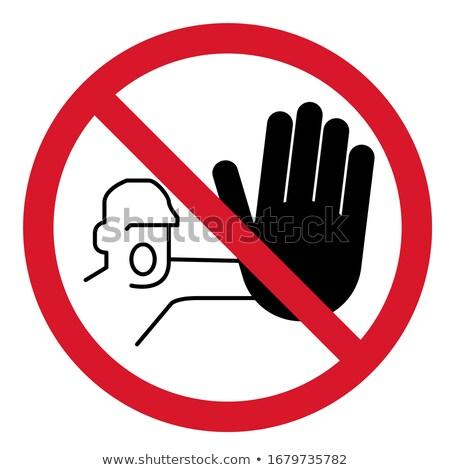 toegang · verboden · icon · home · lopen · geïsoleerd - stockfoto © myvector