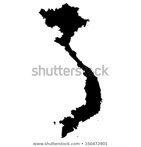 карта · Вьетнам · зеленый · вектора · изолированный - Сток-фото © volina