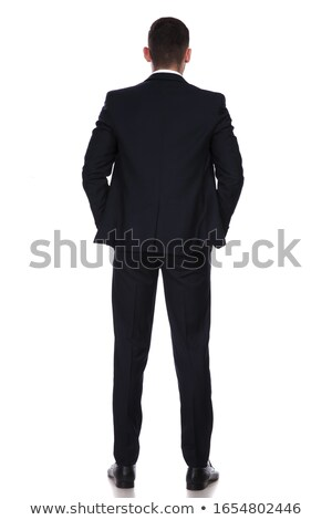 back of a young business man with both hands in pockets Stock photo © feedough