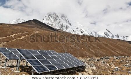 Napenergia állomás Himalája hegyek fenntartható erőforrások Stock fotó © blasbike