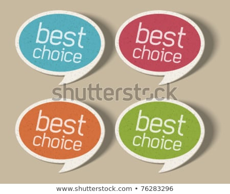 Speech Bubble Icon on Blue Arrow. Stock photo © tashatuvango