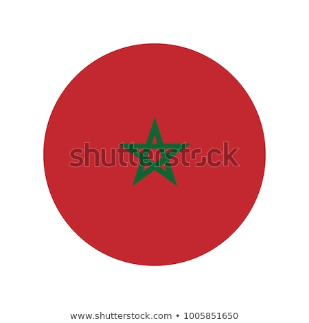 Morocco Flag Button Icon Modern Stock photo © gubh83