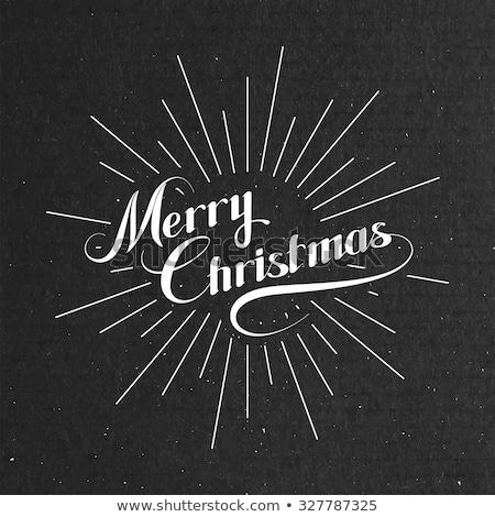 christmas grunge light rays background with label stock photo © wenani