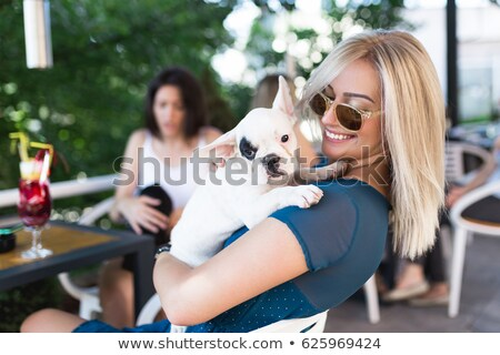 City girl with dog stock photo © Ansy