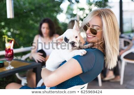 город девушки собака ходьбе женщину женщины Сток-фото © Ansy