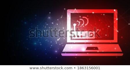 button antenna wave 2d Stock photo © mizar_21984
