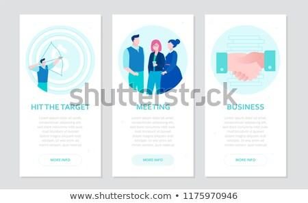 Partnership Concept in Blue Color - Hit Target. Stock photo © tashatuvango