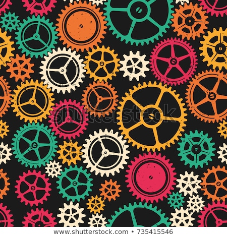 Seamless background of color gear wheels Stock photo © elenapro