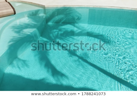 pattern of water in the pool reflecting the sun in a harmonic wa Stock photo © meinzahn