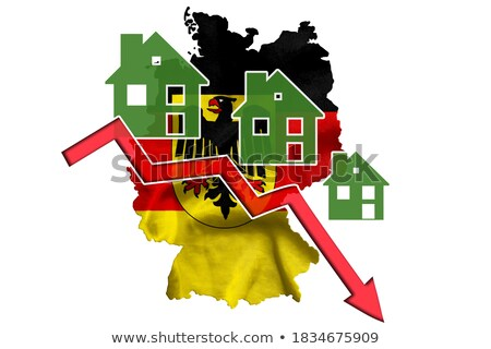 Niemcy mały banderą Pokaż federalny republika Zdjęcia stock © tashatuvango