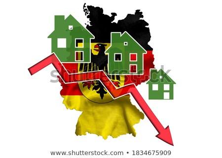 Almanya küçük bayrak harita federal cumhuriyet Stok fotoğraf © tashatuvango