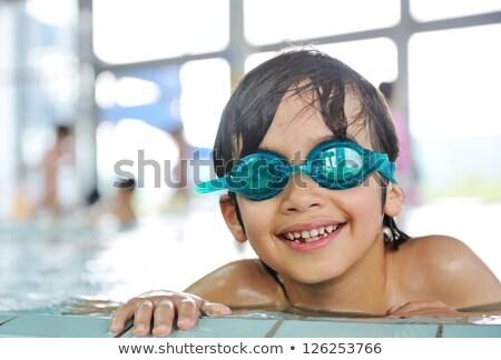 Klaar zwemmen jongen heldere Stockfoto © bigandt