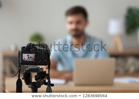 laptop and films multimedia concept stock photo © designers