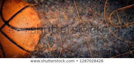 Basketball in the colored smoke Stock photo © cherezoff