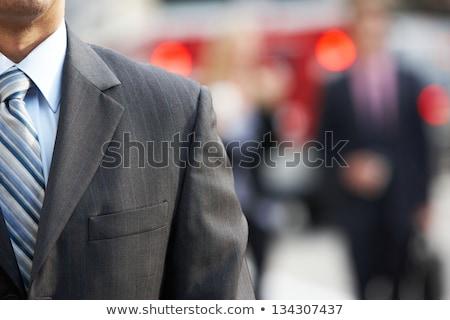 közelkép · üzletember · város · üzletemberek · dupla · kitettség - stock fotó © monkey_business