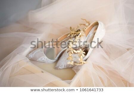 menyasszonyi · cipők · fehér · vörös · szőnyeg · divat · terv - stock fotó © trexec