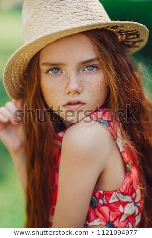 Bella giovane ragazza gli occhi verdi ragazza occhi Foto d'archivio © Nejron