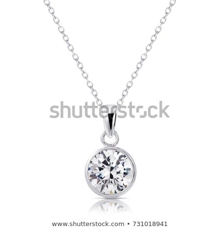 Gyémántok fém szín gyűrű gyémánt fehér Stock fotó © fogen