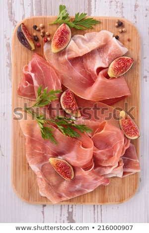prosiutto ham, cured ham and fig Stock photo © M-studio