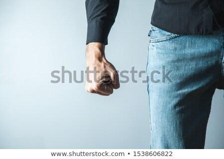 Punho homem peludo presidencial selar mão Foto stock © michaklootwijk