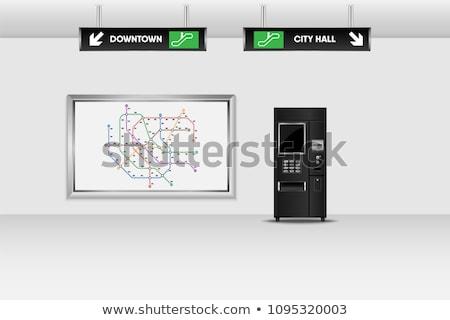 Informatie display automaat opschrift business geld Stockfoto © tashatuvango