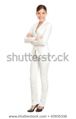 Woman in white suit standing confidently Stock photo © dash
