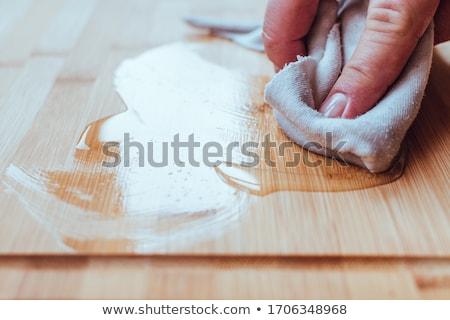 Madeira pintar pintura salgueiro tabela mão Foto stock © wime